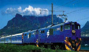 南アフリカの豪華列車ブルートレイン